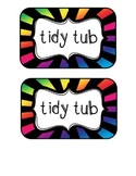 """""""Tidy Tubs"""" Table - Grouped Desks Labels - Bright Rays"""