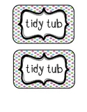 """""""Tidy Tubs"""" Table - Grouped Desks Labels - Pretty Polka Dots"""