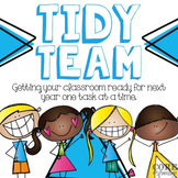 Tidy Up Team: Job Cards For End of Year Classroom Clean Up