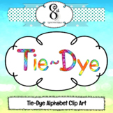 Tie Dye Letter and Number Clip Art