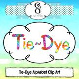 Tie Dye ABC Clip Art