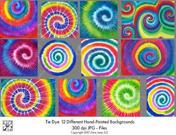 Tie Dye Backgrounds Printables