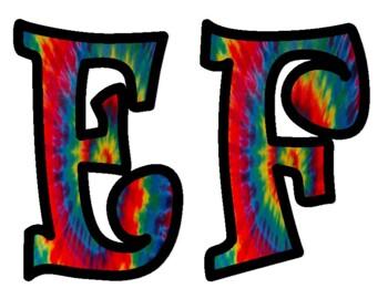 Tie Dye Bulletin Board Letters