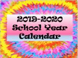 Tie Dye Calendar!!