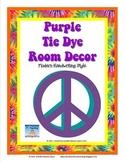 Tie Dye Classroom Decor Pack