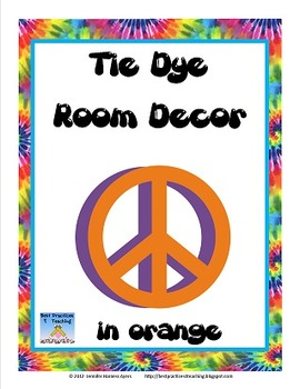 Classroom Decor Pack--In Orange