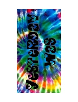 "Tie Dye Days for Calendar ""Yesterday, Today, and Tomroow"""
