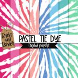 Tie Dye Digital Paper Clip Art