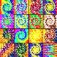 Tie Dye Digital Paper Pack - 16 Different Papers - 12inx12in