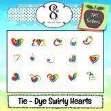 Tie Dye Heart Clip Art