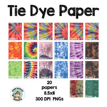 Tie Dye Paper