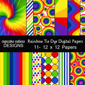 Tie Dye Paper Pack Digital Graphics - Commercial Use