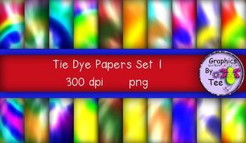 Tie Dye Papers Set 1