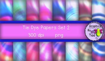 Tie Dye Papers Set 2