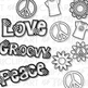 Tie Dye Peace Shirts Clip Art (Digital Use Ok!)