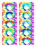 Tie Dye Scratch Off Teacher Rewards - *Labels Sold Separately*