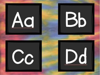 Tie Dye Word Wall Words and Headers