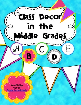 Tie Dyed Brights Bunting and Letters