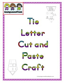 Tie Letter Cut and Paste Craft