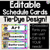 TieDye Daily Schedule Cards