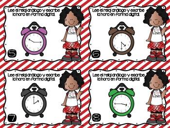 Tiempo: Intervalos de hora, 30 y 15 minutos/ Time: hour, 30 & 15 minute interval