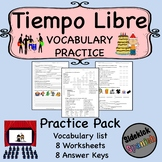 Tiempo Libre Vocabulary Worksheets in Spanish (Concert, Mo