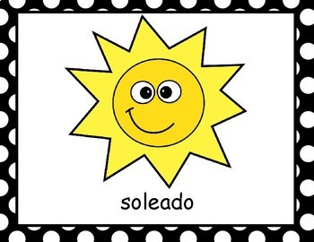 Tiempo / Weather Vocabulary Words in Spanish