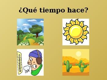 Tiempo (Weather in Spanish) power point