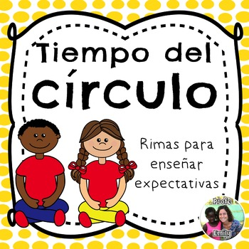 Spanish classroom management: poems to teach circle time expectations