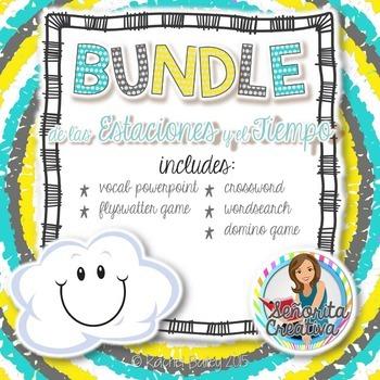 Tiempo y Estaciones Bundle! (Weather and Seasons-Themed Bundle)