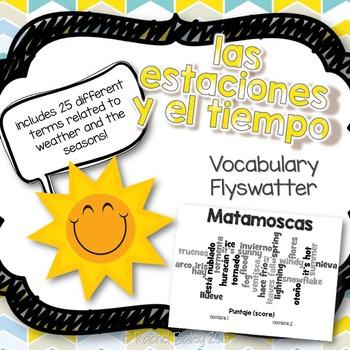 Tiempo y Estaciones Matamoscas Game - Weather and Seasons Flyswatter