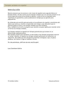 Tiempos verbales en español - Guía para profesores y estudiantes de español.