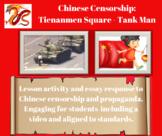 China Censorship through Tienanmen Square - Tank Man Activity