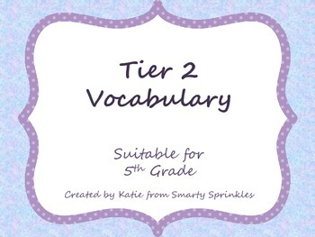 Tier 2 Vocabulary
