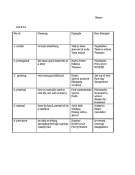 Tier 2 Vocabulary Analogy and Context Clue Activities and