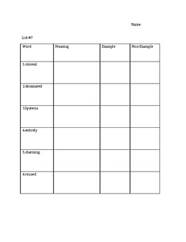 Tier 2 Vocabulary Analogy and Context Clue Activities and Assessments Week 7