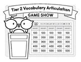 Tier 2 Vocabulary Articulation Game Show (A No Prep Activity)