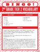 Tier 2 Vocabulary Bingo Combo Pack (Grades 2-5)