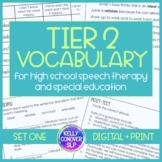 Tier 2 Vocabulary for High School SLPs & Special Education