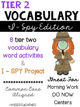 Tier 2 Vocabulary - I Spy Edition