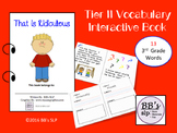 Tier 2 Vocabulary Interactive Book, 3rd Grade Words