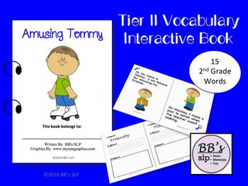 Tier 2 Vocabulary Interactive Book, 2nd Grade Words