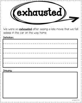 Tier 2 Vocabulary Book - Grade 1 - Context Clues - Common Core Aligned