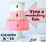 Tier 2 Vocabulary Lists | Grades K through 12