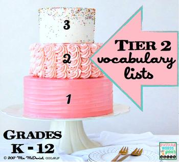 Tier 2 Vocabulary Lists {grades K through 12}