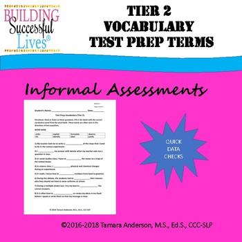 Tier 2 Vocabulary: Test Prep