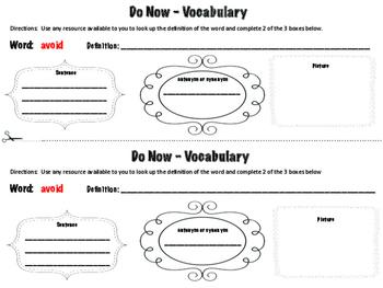 Tier 2 Vocabulary Warm-Ups- Grade 2