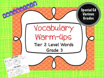 Tier 2 Vocabulary Warm-Ups - Grade 3