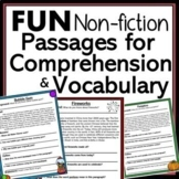 Tier 2 Vocabulary and Reading Comprehension Non-Fiction Te