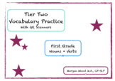 XOXO Tier 2 Vocabulary with QR Scanners- First Grade
